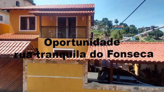 Excelente Casa Duplex Em Rua Tranquila No Fonseca - 577