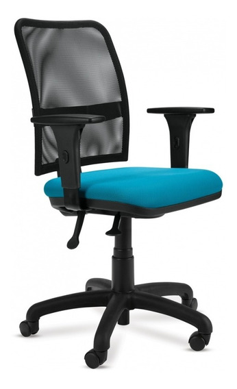 Cadeira Escritório Gitarória Executiva Preto/azul - Cercatto