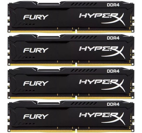 Memória 64gb (16gb X 4) Ddr4 2666mhz Kingston Hyperx Fury