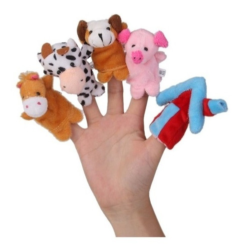 Pack 10 Titeres Dedo Cuentos Granja Personajes Animales