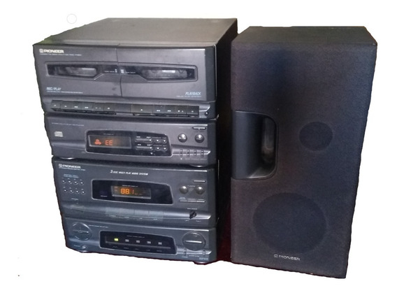 Mini Sistem Pioneer 3x1 K7 Pandeja C 3 Cds Funcionando