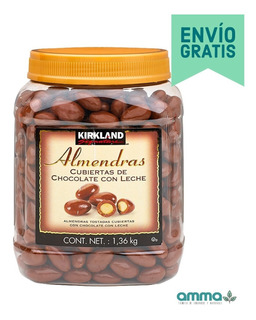 2 Botes Almendras Cubiertas De Chocolate Con Leche 2.72kg