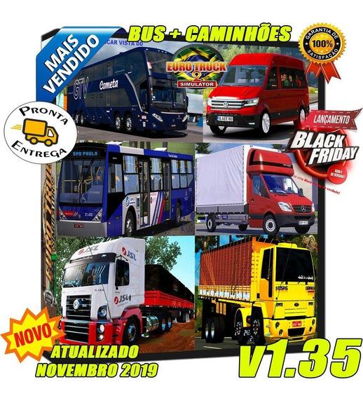 Euro Truck Simulator 2 Onibus+caminhao+3 Mapas Exclusivos