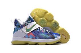 Tenis Nike Lebron Xiv Multicolor Unica Pieza Liquidacion