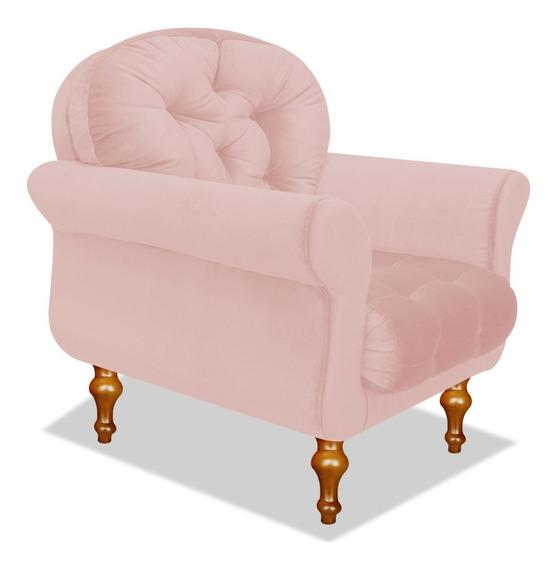 Poltrona Cadeira Dani Decoração Sala De Espera Quarto Rose