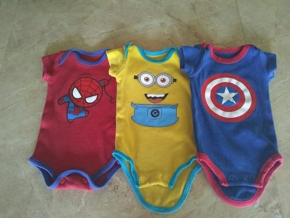 Mameluco Del Hombre Araña, Capitán América, Los Minions