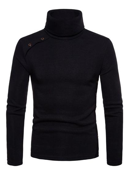 Alto Collar Suéter Jersey Suéter Tramo Camisas