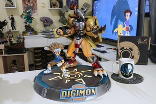Tai & Wargreymon Diorama - Digimon - Stl - Para Impresión 3d