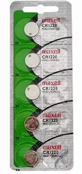 Cinco Baterias Pilha Maxell Cr1220 Bateria Relógio Original