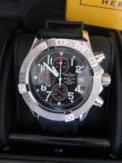 Relógio Modelo Avenger 45mm Cronógrafo Fundo Preto