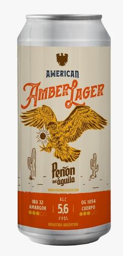 Peñón Del Aguila American Amber Lager - Lata X 473 Ml -