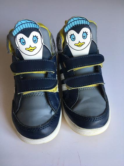 Tênis adidas Neo Label Cano Alto Pinguim Us 8k Brasil 23
