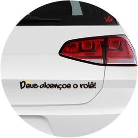 Adesivo Frase Deus Abençoe O Rolê Carro Automotivo Rebaixado