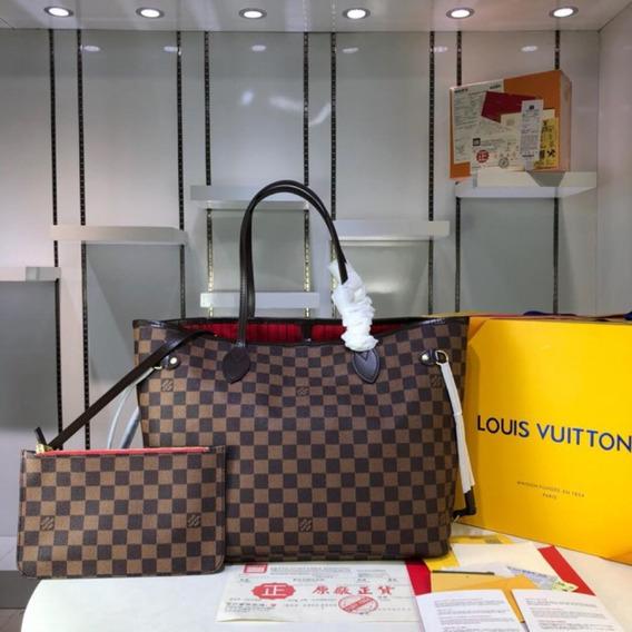Bolsa Louis Vuitton Never Full Em Couro Canvas Monogran
