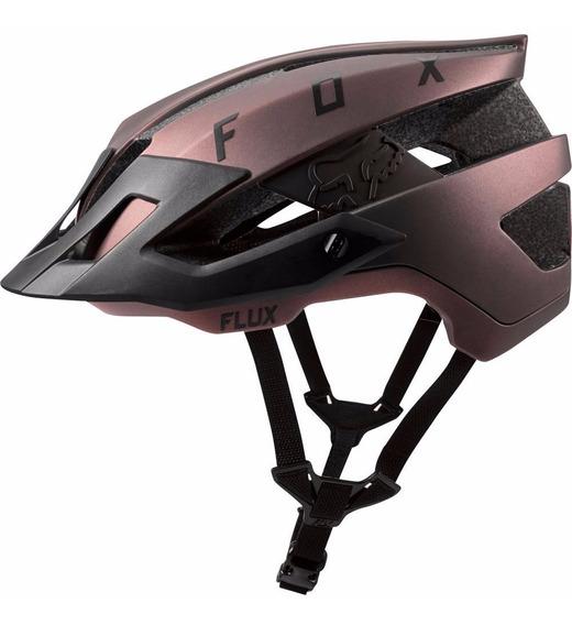 Casco Fox Flux Negro Iridium Bicicleta Mtb Downhill Enduro