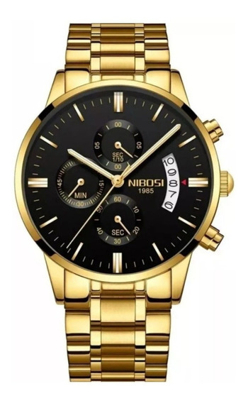 Kit Nibosi P/ Revenda 5 Relógios Masculino Na Garantia Caixa
