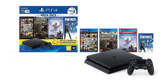 Console Sony Playstation 4 Slim Mega Pack V6 Cuh-2214b-v6
