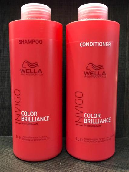 Shampo E Condicionador Wella Color Brilliance Invigo 1litro