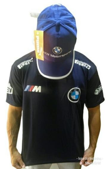 Kit Bmw Camisa + Bone Bmw Oportunidade Oferta Frete Gratis