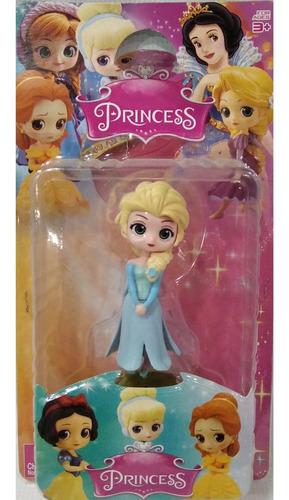 Princesas Elsa/cenicienta/blanca Nieves/rapunzel De 10 Cm
