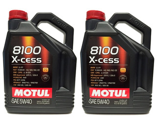Envío 2 Bidones Aceite Motul 8100 5w40 X5l -100% Sintético- Original