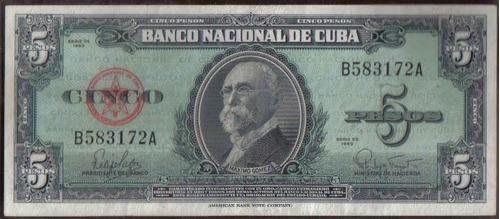 Cuba 5 Pesos 1960 P92a