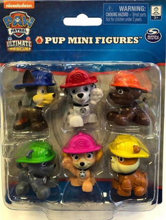 Paw Patrol Set Mini Fig En Blister X 6 Int 16708 Original