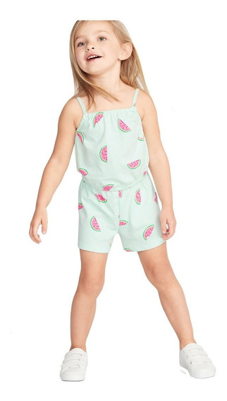 Jumpsuit Niña Bebé Short Tirantes Estampado Jumper Old Navy