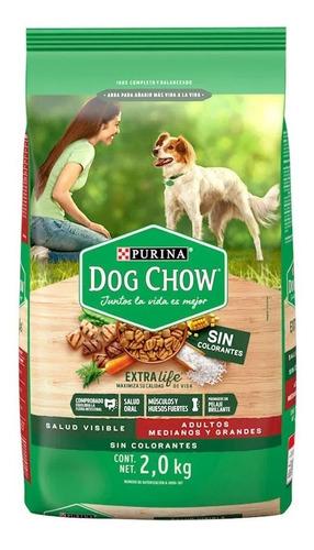 Dog Chow Sin Colorantes Adultos Medianos Y Grandes 4 Kg