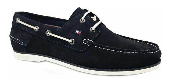 Zapatos Náuticos Tommy Hilfiger Azul Marino Talle 43 Hombre