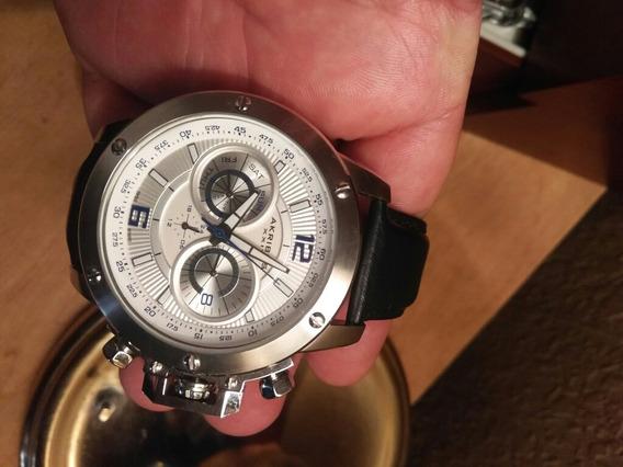 Bonito Reloj Akribos Xxlv, Crono Y Fecha 50 Mm