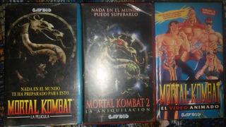 Lote Vhs Mortal Kombat 1, 2 Y Animada