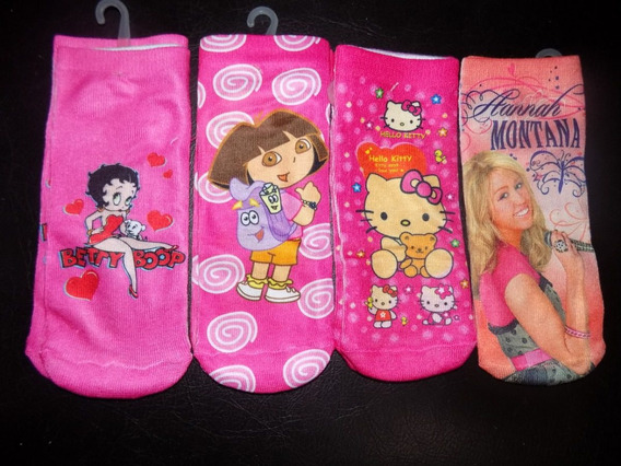 Medias Disney Princesas Niñas Hello Kitty Dora Hanna 8 Pack