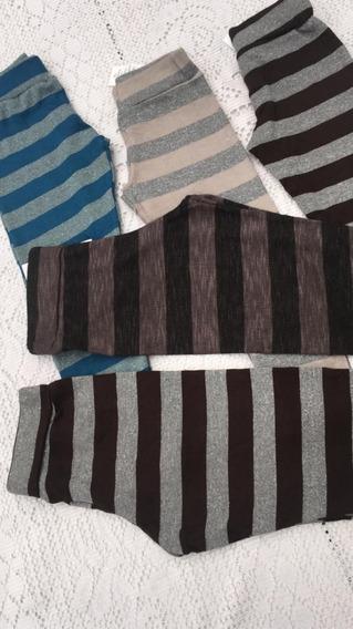 Calzas Rayadas De Lanilla - Excelente Calidad - Nenas