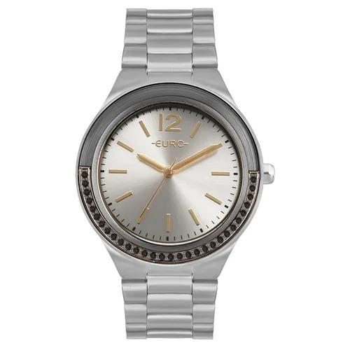 Relógio Euro Feminino Double Face Lux Prata