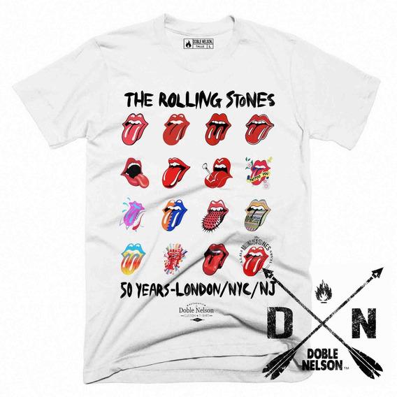Remera Hombre The Rolling Stones Lenguas Doble Nelson