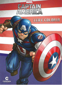 Livro Infantil Capitão América Ler E Colorir