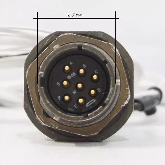 Amphenol Socapex Série 451 C/ 8 Pinos Conector Circular