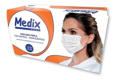 Imagem 1 de 3 de 50 Máscara Tripla Descartavel Com Elástico - Anvisa
