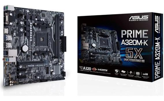 Motherboard Asus Prime A320m-k Am4 Ddr4 Usb 3.0 Hdmi