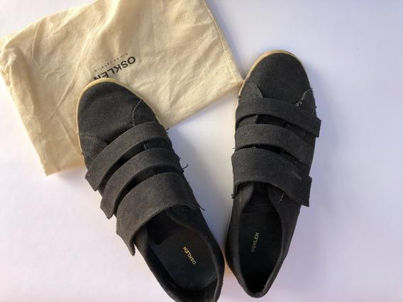 Osklen Sapatenis Lona Velcro (usado)