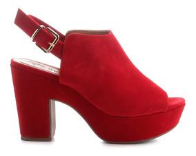 Sandália Feminina Open Boot Vermelha Bebecê