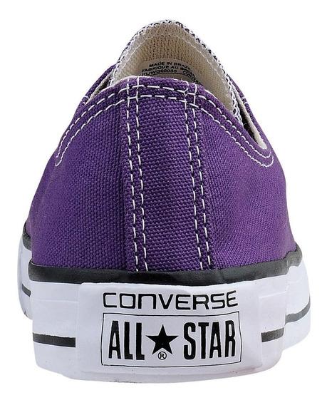 Tênis All Star Converse Cano Baixo Lilás