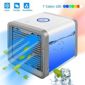 Mini Climatizador De Ar Portátil C/ Lâmpada Colorida Fg