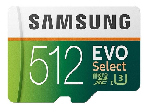 Imagen 1 de 5 de Tarjeta de memoria Samsung MB-ME512GA/AM  Evo Select con adaptador SD 512GB