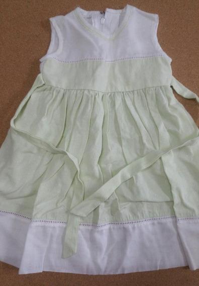 Vestido Verde Usado Medidas En Descripcion 1 A 2 Años