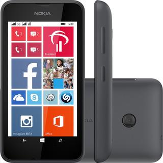 Smartphone Nokia Lumia 530 4gb Dual 5mp Preto Vitrine 1