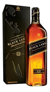 Whisky Johnnie Walker Black Label 12 Años Litro