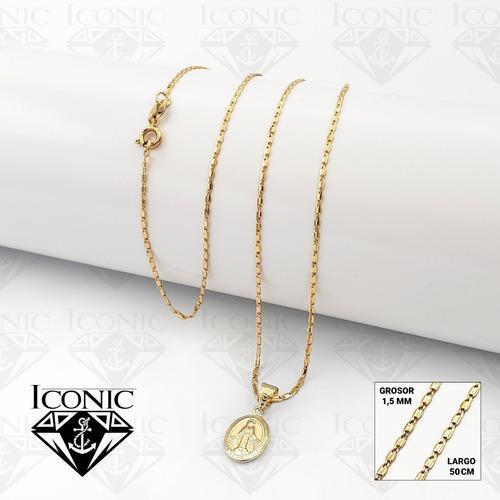 Cadena Con Medalla Milagrosa Oro Laminado 18k Iconic Store