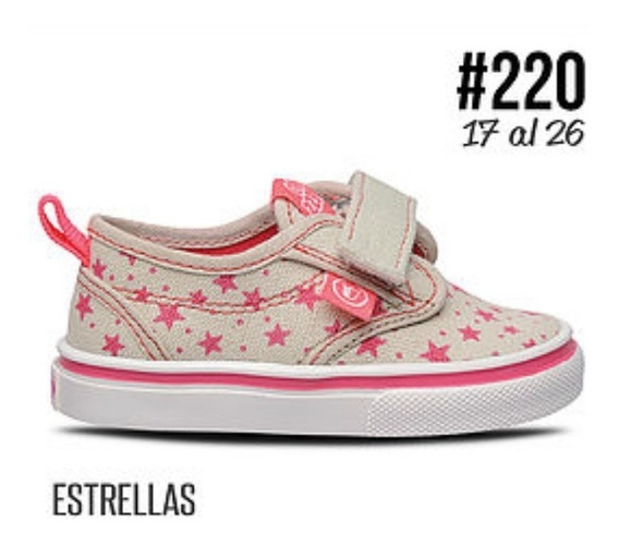 Zapatillas Lona Niños Con Abrojo Prowess Art. 220 Primavera